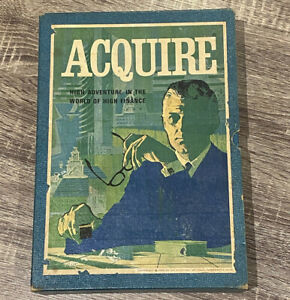 ACQUIRE Vintage Board Game complete 1968, finance strategy, RARE - COMPLETE