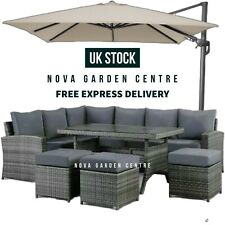 More details for rattan corner 10 seat garden dining furniture sofa set patio wicker conservatory