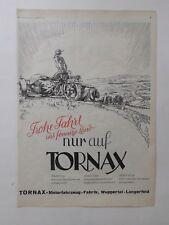ORIGINAL UM 1930 MOTOR & SPORT WERBUNG TORNAX 1/30 11/30 111/30 JAP WUPPERTAL