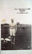 JEUX OLYMPIQUES 1924 – carte postale originale de Jonni Myrrha, Javelin Gold 1920 & 24