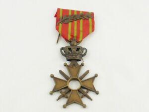 WW1 Belgium / Belgian Croix de Guerre With Bronze Palm Citation A/F
