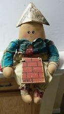 "Cloth Humpty Dumpty Doll ""Handmade USA"""