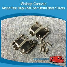 Caravan NICKLE PLATE HINGE FOLD OVER 10MM OFFSET x 2 Millard Viscount Vintage