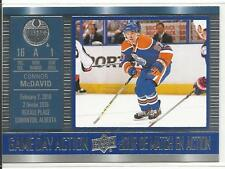 16-17 Connor McDavid Game Day Action Tim Hortons Canada Insert Card #GDA-7