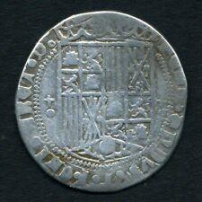 (154) RARE REAL ARGENT ( aux 2 croix ) FERDINAND et ISABELLE de CASTILLE