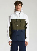 NWT Penfield Men's Greylock Colorblock Hooded Jacket Size XXL Green Blue