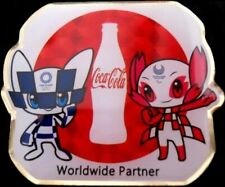 2020 Tokyo Coca-Cola Bottle Olympic/Paralympic Mascots Games Mark Sponsor Pin