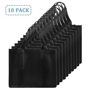 10 Pack Reusable Grocery Bags Heavy Duty Shopping Bags Large Grocery Totes