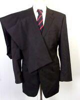 euc Calvin Klein men's 100% Wool Solid Charcoal 2 Pc Business Suit 3 button 42 R