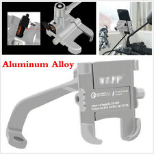"""1PCS For 4-6"""" Phone Aluminum Alloy Mirror Screw Holder Bracket With USB Charger"""