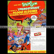 SPRING GUM HOLLYWOOD Gaston Lagaffe GUUST Franquin 1983 - Pub Publicité Ad #A100
