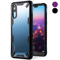 For Huawei P20   Ringke [FUSION-X] Shockproof Clear PC Back TPU Armor Case Cover