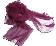 SEIDENSCHAL purpur Chiffon Chiffonschal Seide Schal