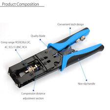 Profession RG59/58/6 Coax Compression BNC/RCA/F Connector Crimping Tool