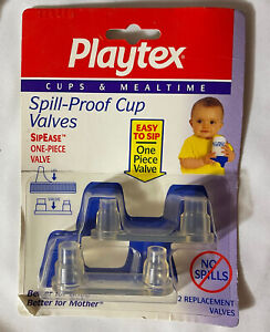 NEW Playtex Replacement Valves SipEase Spill-Proof Cups Horizontal Old Style