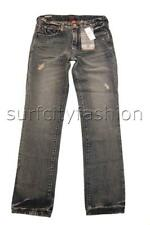 Quiksilver STRAIGHT VINTAGE CRACKED Boys Jeans Pants Denim NEW - RRP $79.99