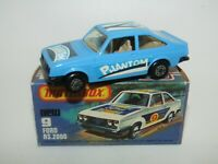 Matchbox Superfast No 9 Ford Escort RS2000 BLUE CHARCOAL BLACK Base VNMIB RARE