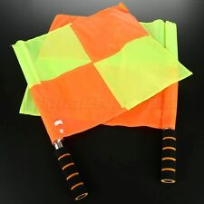 2Pc Linesman Flag Soccer Referee Flags Comfortable Handle To Grip 15.35 x 13.78""