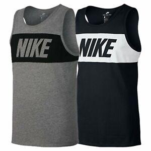 Nike Mens Vests Tanks Retro Sleeveless Tank Top Shirt Big Logo Sports Gym Vest