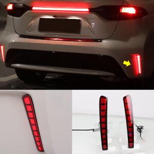 For Toyota Corolla 2020-2021 LED Rear Bumper Fog Light /Brake Light /Turn Signal