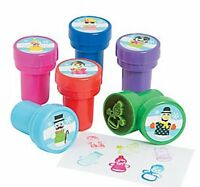 Pack of 6 - Plastic Silly Snowmen Stampers - Christmas Stocking Fillers