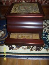 Antique Bed Step - Potty - Chamber Pot - Stool - Commode Embroidered 19 Century