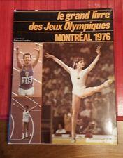 Vintage Olympic Game book . le Grand Livre des Jeux Olympiques Montréal 1976