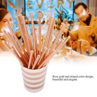 ROSE GOLD FOIL Paper Cups Straw Tableware Disposable Birthday Party Supply Decor