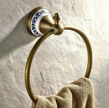 Antique Brass Bathroom Accessories Round Towel Ring Holder Bath Hardware wba401
