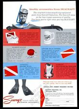 1961 Seacraft scuba diving diver flag first aid kit etc photo vintage print ad