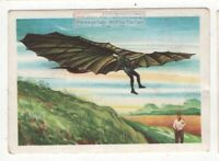 German Aviation Pioneer Otto Lilienthal Gliding Machine  Vintage Trade Ad Card