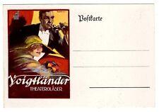 POSTCARD GERMAN VOIGTLANDER OPERA GLASSES ADVERTISING