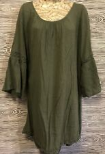 Aerie American Eagle Olive Green Boho Hippie Racerback Gypsy Cover Up Dress XL