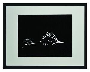 "Echidna White Matted Print 11""x14"", framed or unframed."
