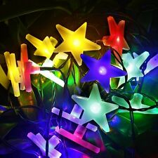 Solar Power Outdoor String Star Light for Outside Garden Patio Party Waterproof