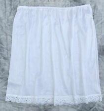 LADIES pretty half slip petticoat WHITE with a lace hem Mid length NEW