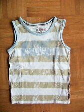 @ Pampolina @ Shirt ärmellos Tank Top weiß-beige Gr. 104 Age 3 - 4