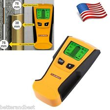 US 3in1 LCD Stud Wood Wall Center Finder Scanner Metal AC Live Wire Detector New