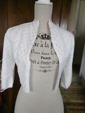 """Petite veste courte vintage """" la Mode de PARIS """"  en dentelle ecrue  ( mariee ?"""