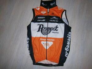 Vintage pro cycling jersey 2016 ROMMPOT ORANJE PELOTON ISAC summer vest XS
