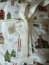 New Pottery Barn SKI LODGE Queen SHEETS Organic COTTON