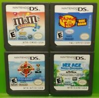 Nintendo DS Lite 2ds 3ds Game Lot Disney Ferb Alvin Chipmunks Ice Age M&M's