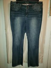 MAURICES STRAIGHT LEG  WOMENS JEANS PLUS SIZE 20 LONG