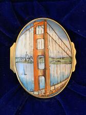 Halcyon Days Tiffany & Company Golden Gate Bridge Enamel Trinket Box