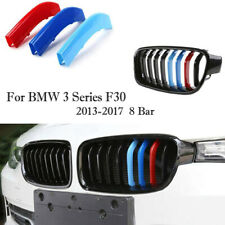 NEW Kidney Grille Cover Stripe Clip For BMW 3 Series F30 F31 2013-2015 8 SLATS