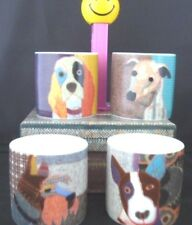 Dog Eggcups Poochies Magpie, Scotty Cocker Spaniel Whippet Boston Terrier Nib