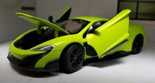 1:24 Scale McLaren 675LT Lime Green Very Detailed Welly Diecast Model Car