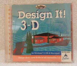 Design It! 3-D Windows Mac Software 1996 Softkey