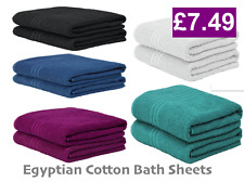 Super Jumbo  Egyptian Cotton Bath Sheets Pack 1, 2,3,4 Extra Large Soft Towels