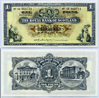SCOTLAND 1 POUND 1964-65 ROYAL P 325a ABOUT UNC AUNC